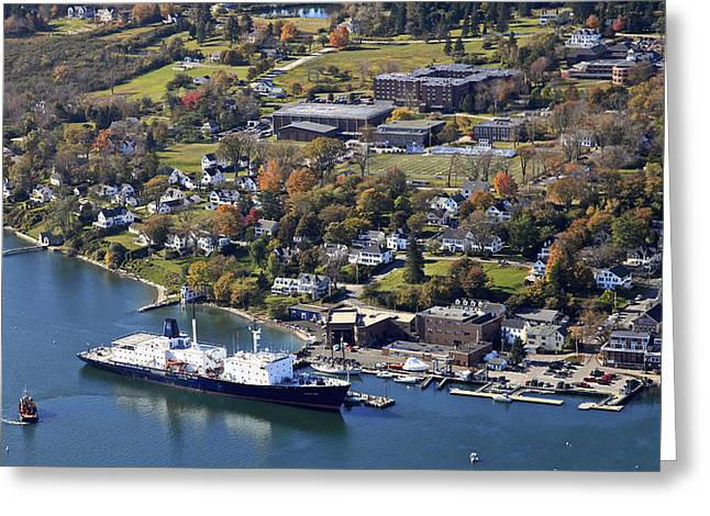 Maine Landscape Greeting Cards - The State Of Maine At The Pier Of Maine Greeting Card by Dave Cleaveland