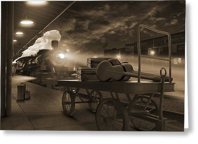 Railroad Tracks Greeting Cards - The Station 2 Greeting Card by Mike McGlothlen