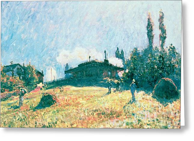 The Station at Sevres Greeting Card by Alfred Sisley