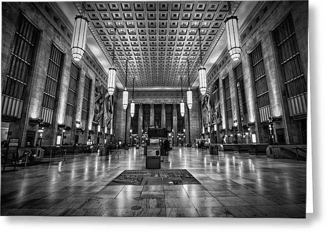 Long Street Greeting Cards - The Station Greeting Card by Rob Dietrich