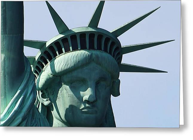 The Statue Of Liberty Greeting Card by Robert Yaeger