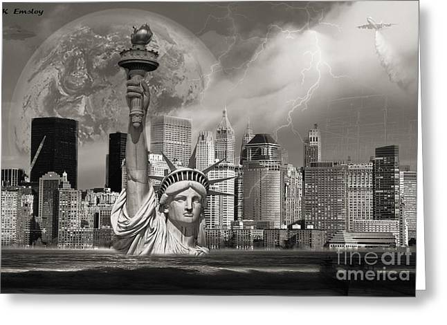 The Statue Of Sandy Greeting Card by Karl Emsley