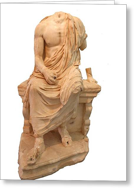 The Statue Of The Unidentified Philosopher Greeting Card by Tracey Harrington-Simpson