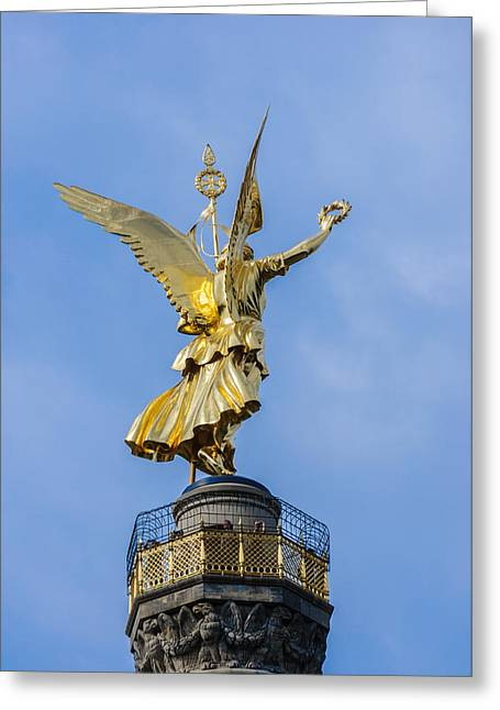 Bronce Greeting Cards - The Statue Of Victoria - Victory Column - Berlin Germany Greeting Card by Colin Utz