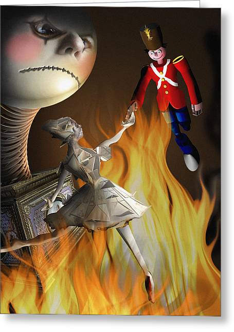 Steadfast Greeting Cards - The Steadfast Tin soldier ...the envy... Greeting Card by Alessandro Della Pietra
