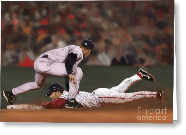 Fenway Park Digital Greeting Cards - The Steal Greeting Card by Jeremy Nash
