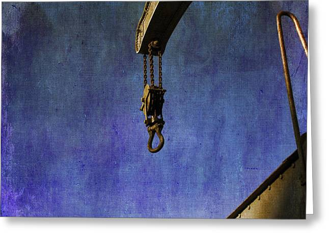 The Steam Crane Greeting Card by Brian Roscorla
