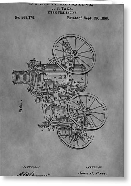 Mechanical Revolution Greeting Cards - The Steam Engine Greeting Card by Dan Sproul