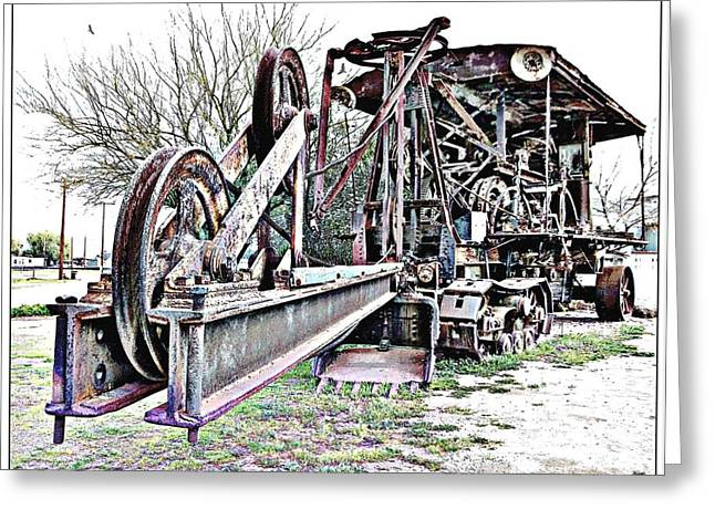 Pen Greeting Cards - The Steam Shovel Greeting Card by Glenn McCarthy Art and Photography