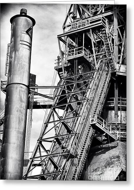 Pa Greeting Cards - The Steel Mill Greeting Card by John Rizzuto