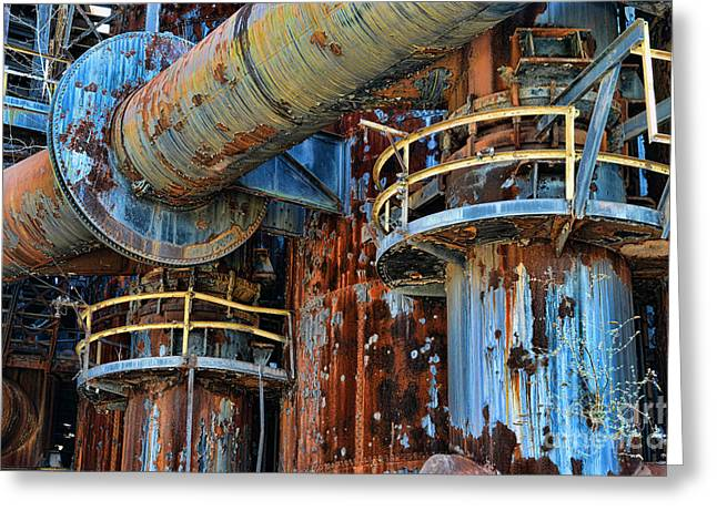 Steel: Iron Greeting Cards - The Steel Mill Greeting Card by Paul Ward