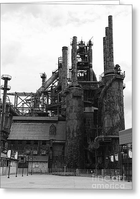 Abandoned Mill Greeting Cards - The Steel Stacks Greeting Card by Paul Ward