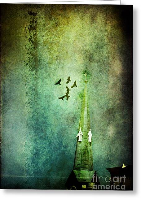 Circling Greeting Cards - The Steeple Greeting Card by Stephanie Frey