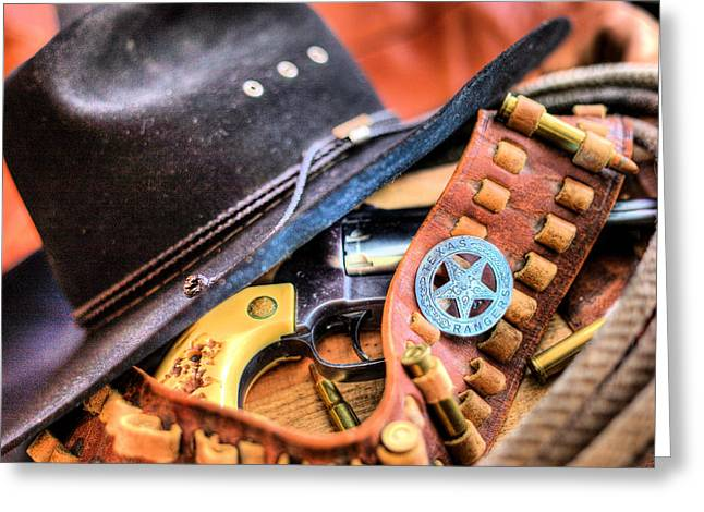 West Tx Greeting Cards - The Stetson Greeting Card by JC Findley