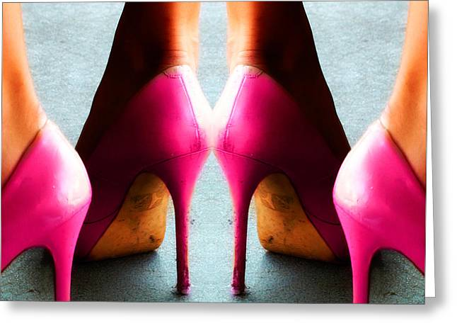 Pink Shoes Greeting Cards - The Stilettos  Greeting Card by Steven  Digman