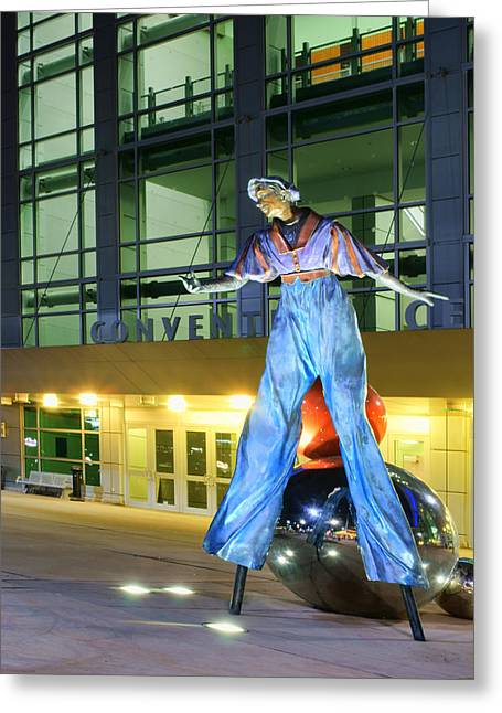 Life-size Greeting Cards - The Stilt-Walker Greeting Card by Nikolyn McDonald