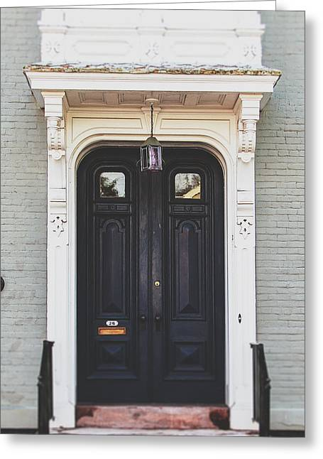 Ornate Door Greeting Cards - The Stockade Door in Schenectady New York Greeting Card by Lisa Russo