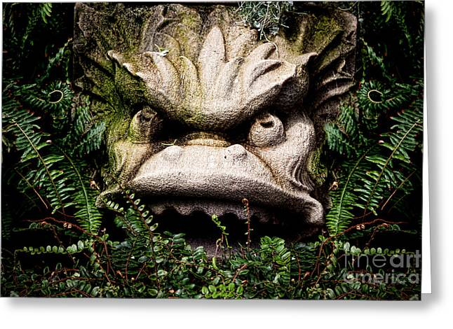 Garden Statuary Greeting Cards - The Stone Greeting Card by K Hines