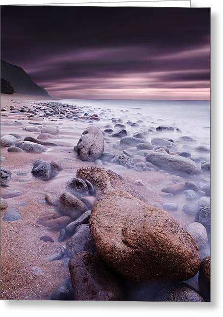 The Stone Land Greeting Card by Jorge Maia