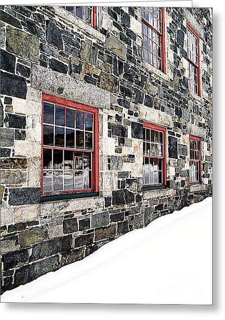 Recently Sold -  - Stones Greeting Cards - The Stone Mill at the Enfield Shaker Museum Greeting Card by Edward Fielding