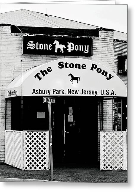 Stones Greeting Cards - The Stone Pony Asbury Park NJ Greeting Card by Terry DeLuco