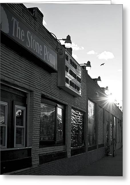 Rock N Roll Greeting Cards - The Stone Pony Asbury Park Side View Greeting Card by Terry DeLuco
