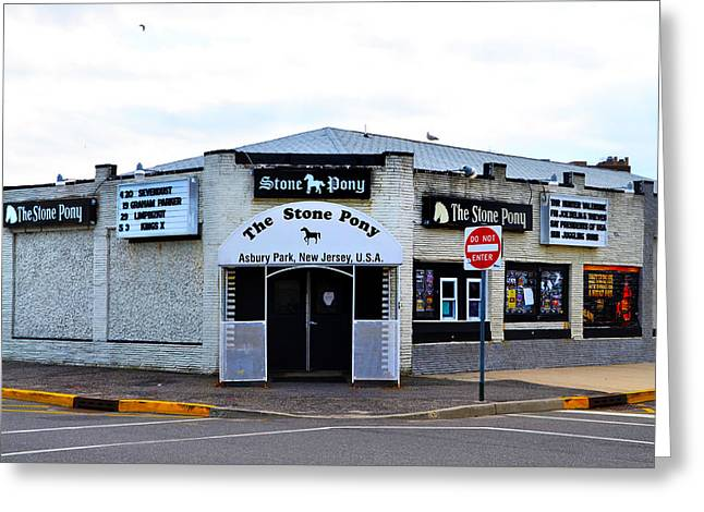 Bruce Springsteen Digital Art Greeting Cards - The Stone Pony Greeting Card by Bill Cannon