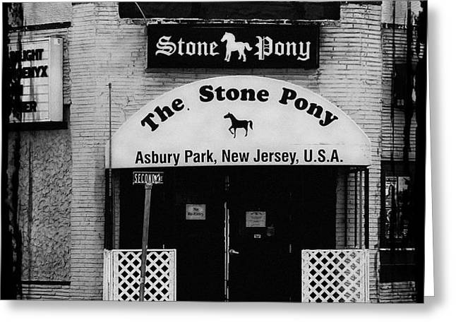 The Stone Pony Greeting Card by Colleen Kammerer