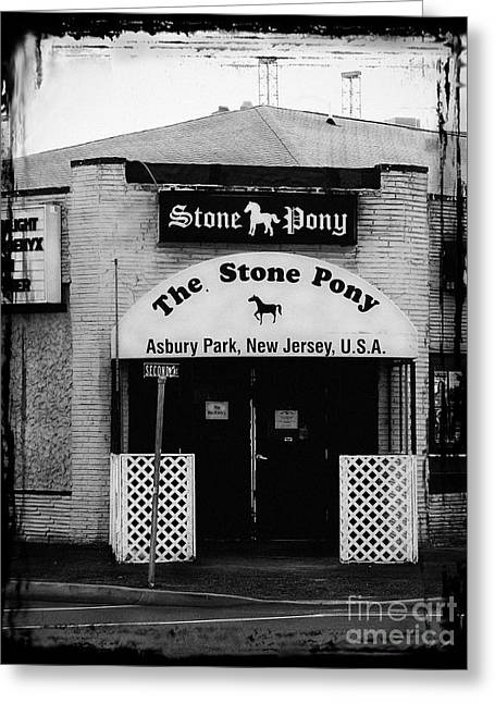 Historic Buildings Bruce Springsteen Greeting Cards - The Stone Pony Greeting Card by Colleen Kammerer