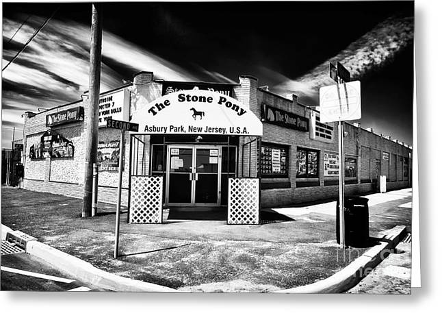 Visual Art Greeting Cards - The Stone Pony Greeting Card by John Rizzuto