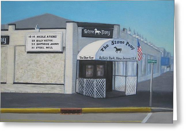 Asbury Park Paintings Greeting Cards - the Stone Pony Greeting Card by Tim Maher