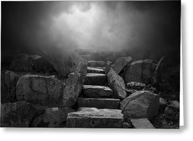 Stepping Stones Greeting Cards - The Stone Steps I Greeting Card by David Gordon