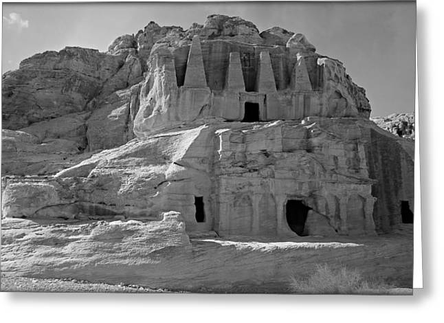 Caves Greeting Cards - The Stones Still Speak - BW Greeting Card by Stephen Stookey