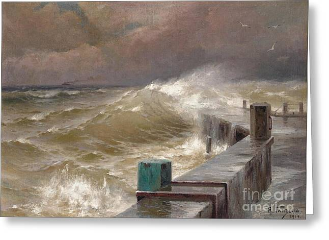 Orthodox Paintings Greeting Cards - The Storm Greeting Card by Alexei Hanzen