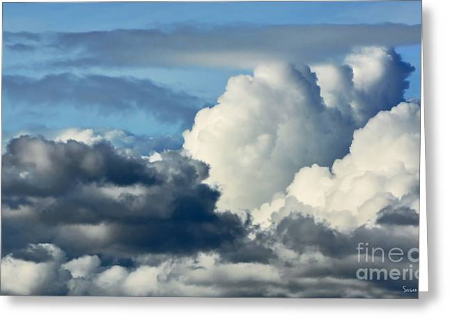 Susan Wiedmann Greeting Cards - The Storm Arrives Greeting Card by Susan Wiedmann