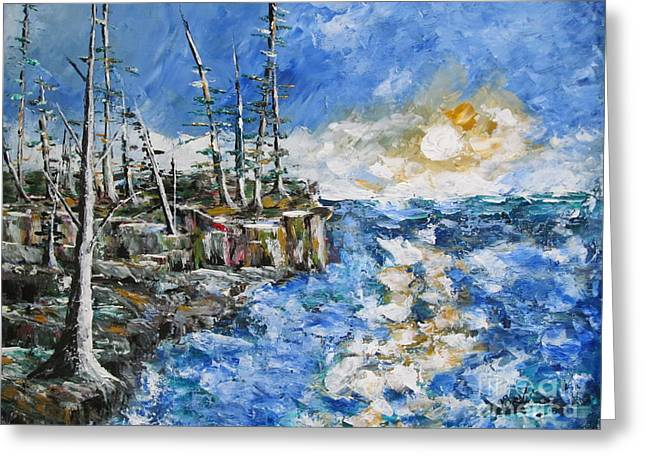 Storm Prints Paintings Greeting Cards - The Storm Greeting Card by Beverly Livingstone