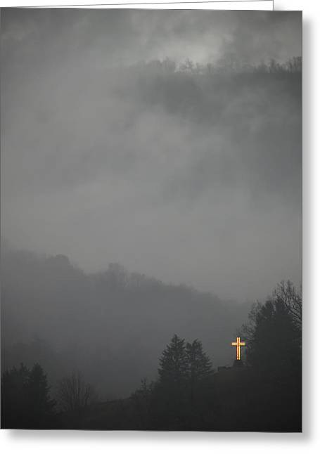 The Storm Is Over Greeting Card by Ed Kelley