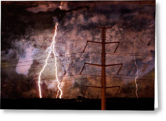Lightning Photographer Greeting Cards - The Storm is upon Us Greeting Card by Jim Finch