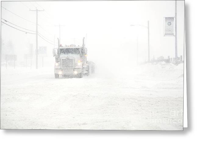 Snowstorm Greeting Cards - The Storm Greeting Card by Sophie Vigneault