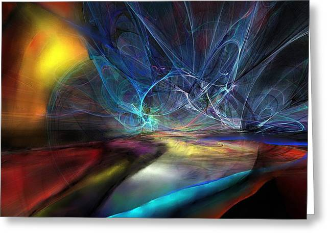 Best Sellers -  - Storm Prints Digital Art Greeting Cards - The Storm Greeting Card by Wolfgang Schweizer