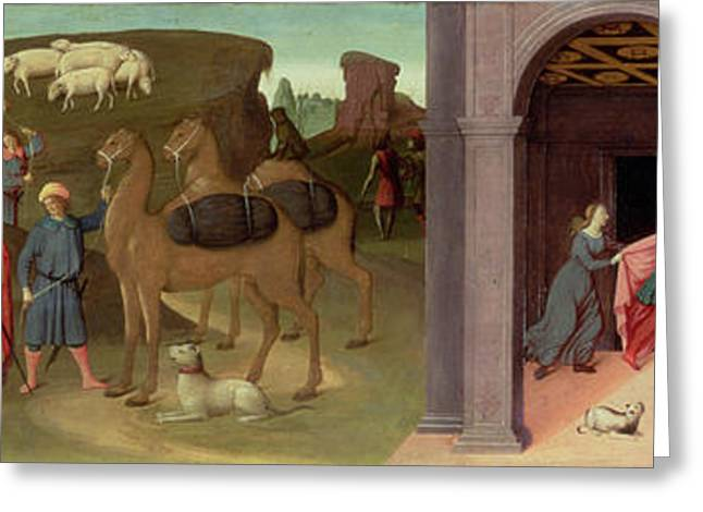 Slavery Greeting Cards - The Story Of Joseph, I Greeting Card by Bartolomeo di Giovanni
