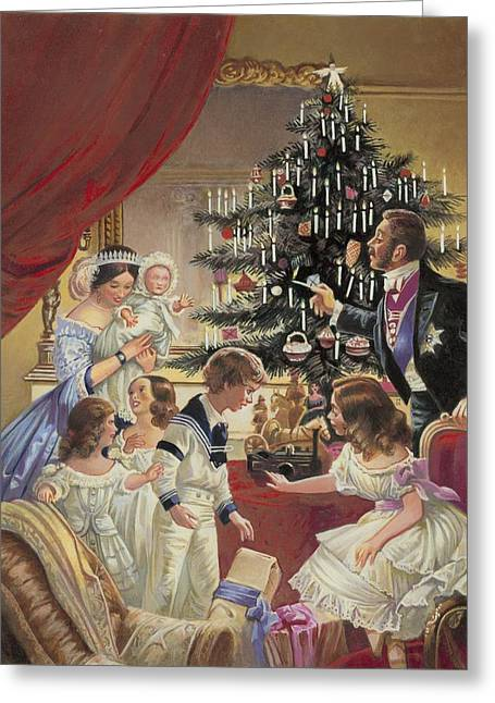 Fir Trees Greeting Cards - The Story of the Christmas Tree Greeting Card by C L Doughty