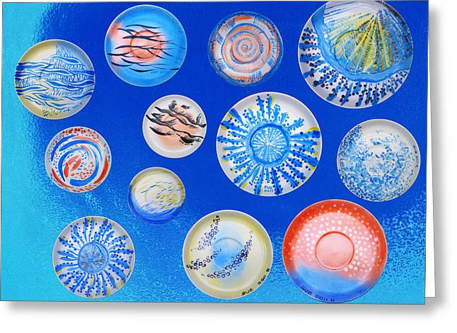 Beach Ceramics Greeting Cards - The Story Of The Sea 9 Greeting Card by Tingting Su