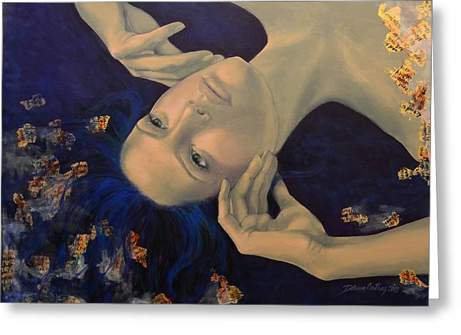 Live Paintings Greeting Cards - The Story of the Sixth Sense Greeting Card by Dorina  Costras