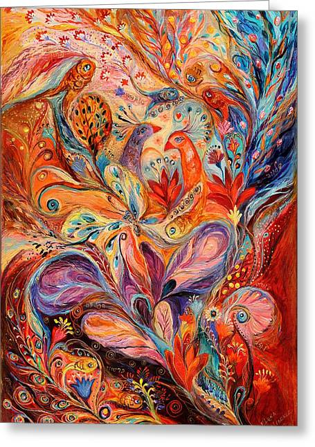 The Story Of Wild Iris Greeting Card by Elena Kotliarker