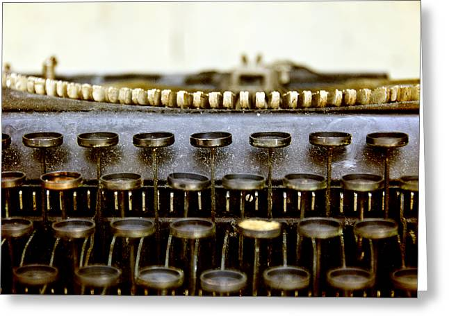 Typewriter Keys Greeting Cards - The Story Told 2 Greeting Card by Angelina Vick