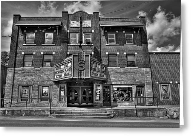 Old And New Greeting Cards - The Strand Theatre Greeting Card by David Patterson