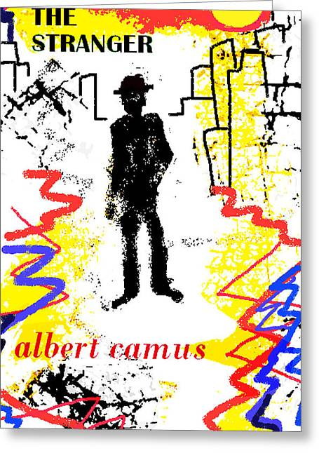 Berber Man Greeting Cards - The Stranger Albert Camus Poster Greeting Card by Paul Sutcliffe