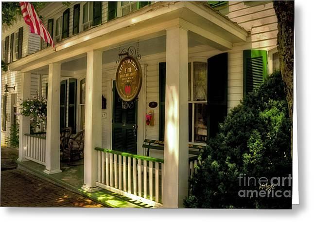 The Strawberry Inn Greeting Card by Lois Bryan