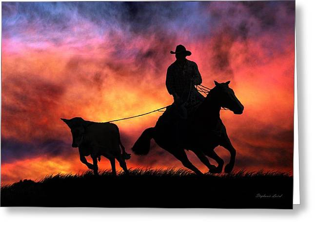 Roping Horse Greeting Cards - The Stray Greeting Card by Stephanie Laird
